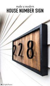 DIY Custom House Numbers