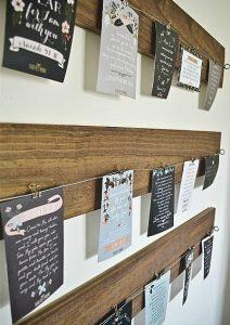 Wood & Wire: Art & Card Display