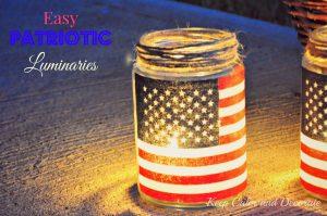 DIY Mason Jar American Flag Candle Holders