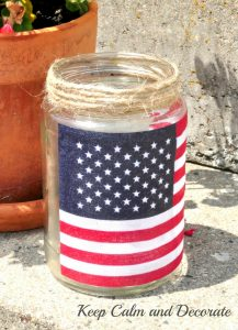 DIY Mason Jar American Flag Candle Holders