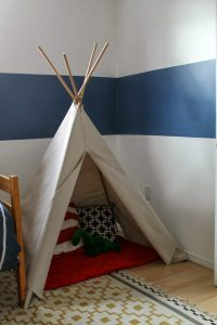 DIY Drop-Cloth TeePee